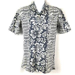 Polo RL Mens Camp Shirt Hawaiian Small Linen Blend